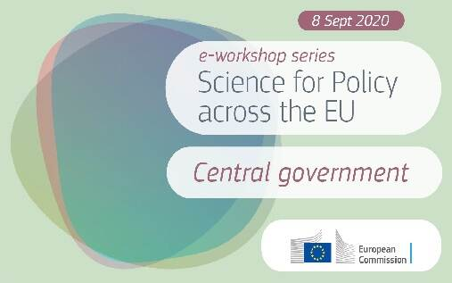 Visual of the workshop series science for policy across the EU