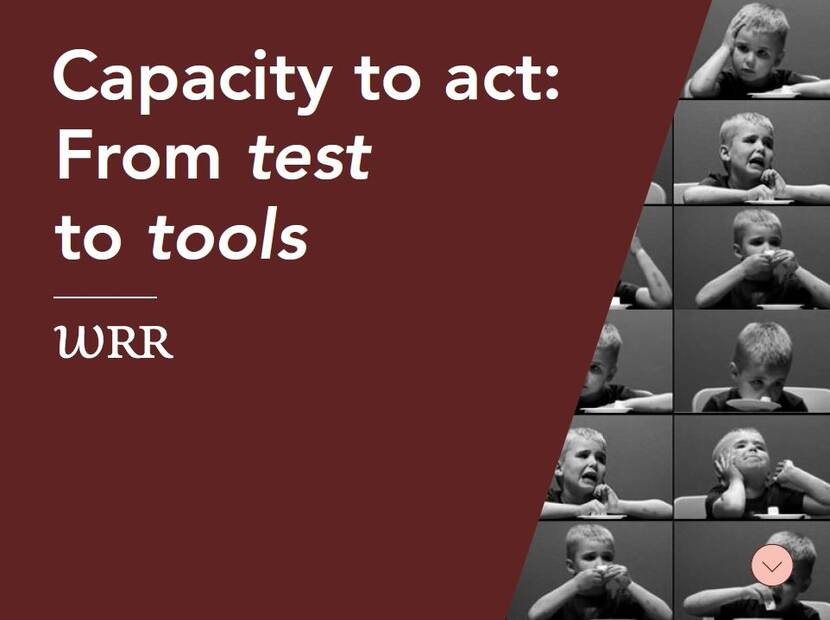 capacity to act from test to tools
